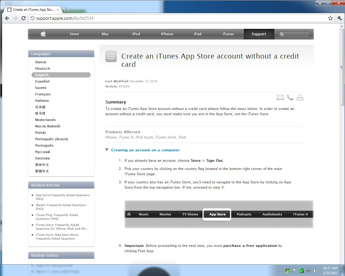 how to get a free apple itunes account