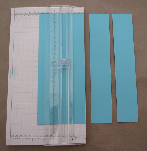 Start by cutting two-inch strips of standard 8.5-by-11-inch card stock.