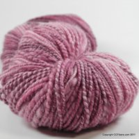 Handspun Yarn, Rose Petals, Superwash, DK