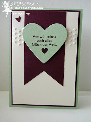 stampin up, in{k}spire_me 164, wedding, hochzeit, framelits heart, herzen, owl punch, adorning accents, love&laughter, zum schönsten tag, banner