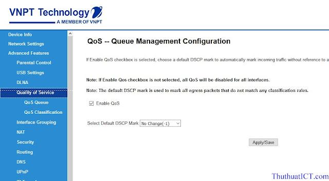 [Quản trị mạng] Các tính năng Router Wi-Fi (GW040 của VNPT) có thể bạn chưa biết? QoS