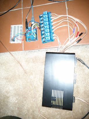 Picture of the wired up system