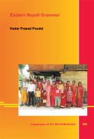 [Poudel: Eastern Nepali Grammar, 2012]