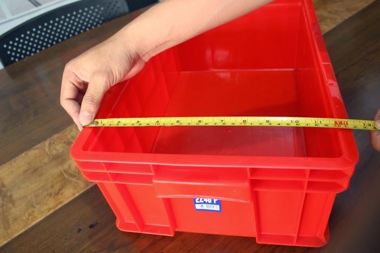JUAL KERANJANG KONTAINER PLASTIK POLOS TIPE 2246 P | Green Leaf | www.rajarakminimarket.com | RAJA RAK INDONESIA | JAKARTA