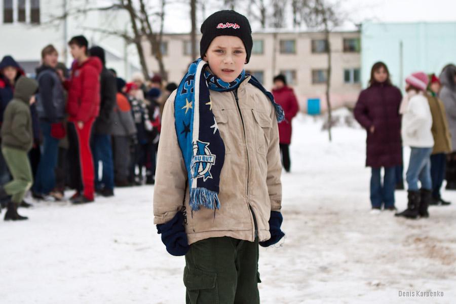 Воспитанник Ветринской школы-интерната. / 5 марта 2011г. / д.Быковщина, Беларусь