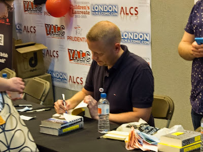Patrick Ness signing at London YA Lit Con (YALC)