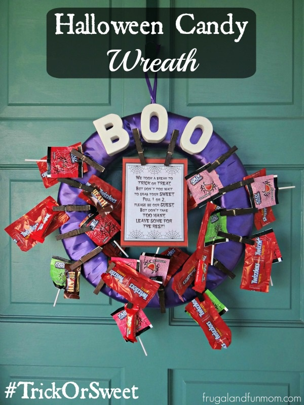 Halloween Candy Wreath Ideas