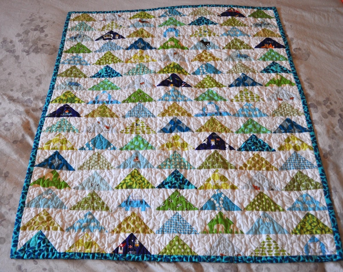 Flying Geese Baby Boy Quilt