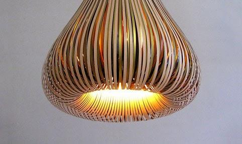 Lámpara de papel, diseñada por Paula Arntzen