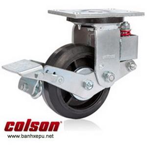 Bánh xe đẩy có phanh hãm giảm xóc Colson phi 150 | SB-6509-648BRK1