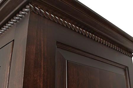 Hudson Armoire in Onyx Maple, Detail Closeup