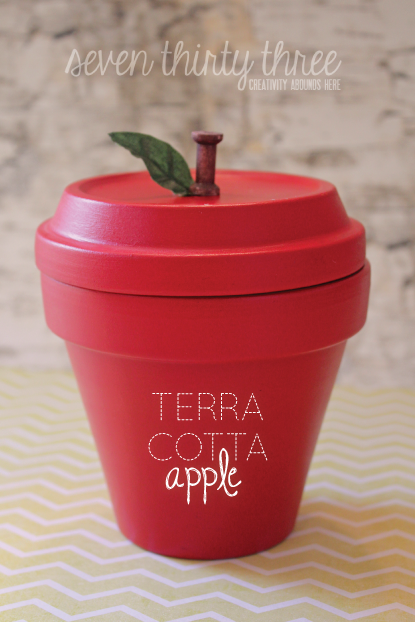 DIY Terra Cotta Pot Apple Teacher Gift
