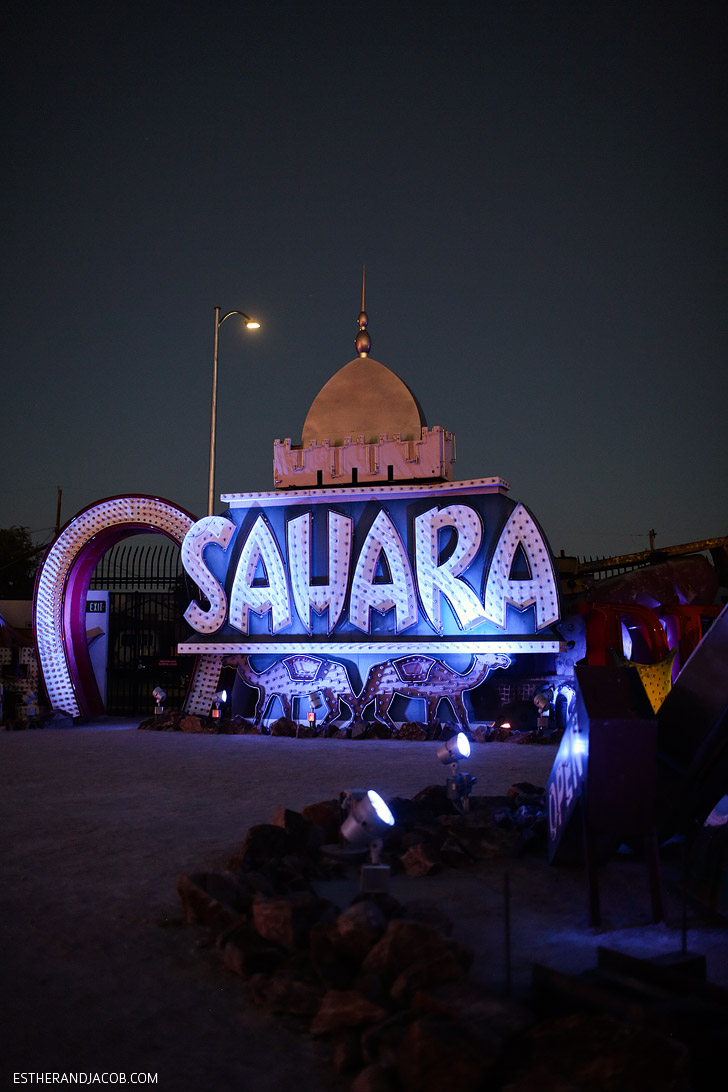 Sahara Hotel and Casino Sign at the Las Vegas Neon Museum.