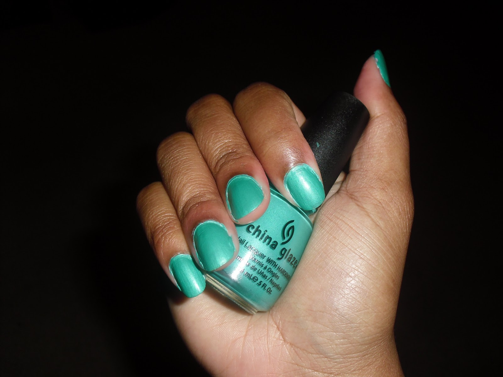On My Nails: China Glaze Turned Up Turquoise (Neon)