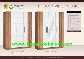 Gambar Lemari Pakaian Murah 3 Pintu Bougenville