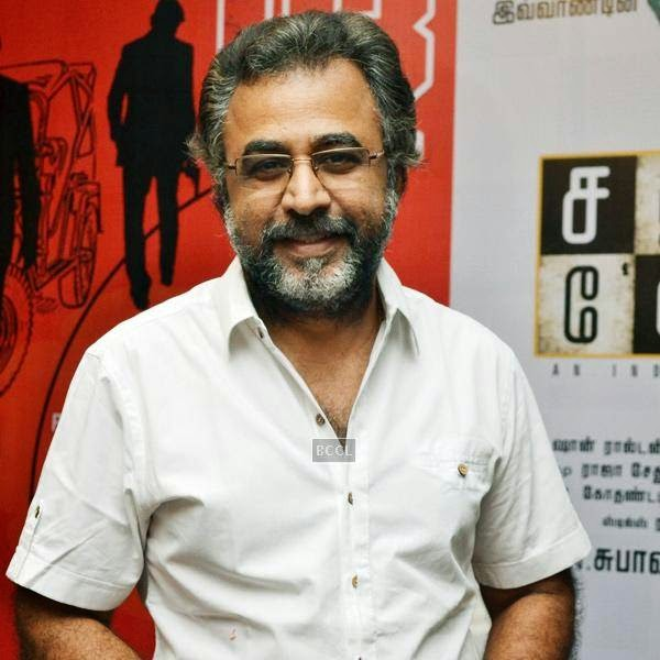 Ponvannan during the press meet of Sathuranga Vettai, held in Chennai.