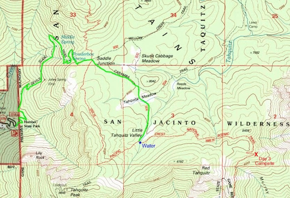 PCT detour and exit route