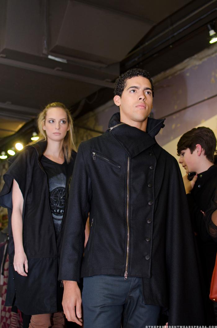 Model Jeremy with model Karen in background