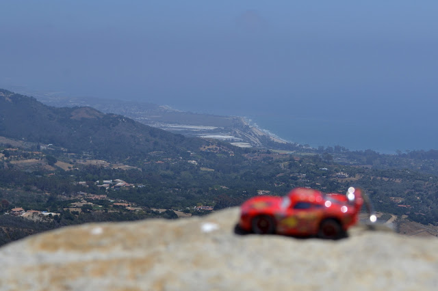 little Cars car in big Carpinteria view