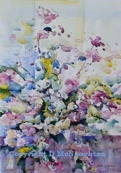 Noeline's Roses. Mixed Media. Artist Dianne McNaughton