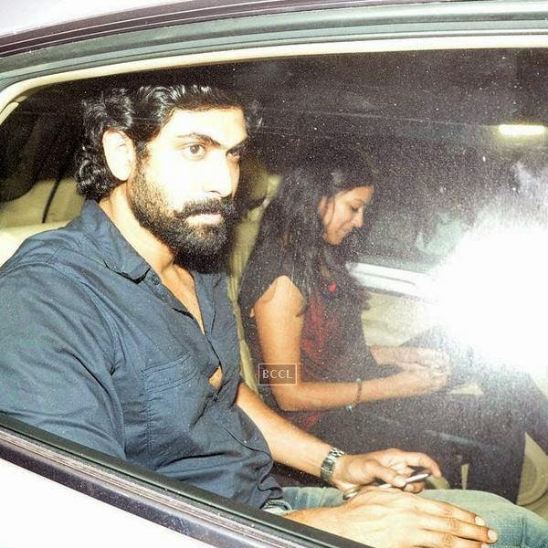 Rana Daggubati leaves after attending Karan Johar's party, organised at his residence, on July 26, 2014.(Pic: Viral Bhayani)