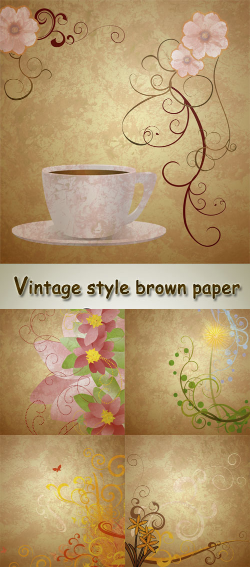 Stock Photo: Vintage style brown paper