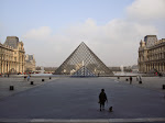 The interior courtyard of the Louvre