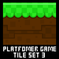 Mario Platformer Game Tile Set