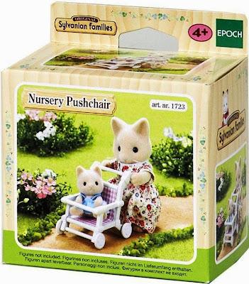 Đồ chơi Epoch 1723 Xe đẩy trẻ em Nursery Pushchair được làm từ chất liệu nhựa cao cấp