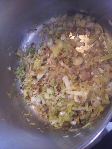 cooking leeks for potato leek soup