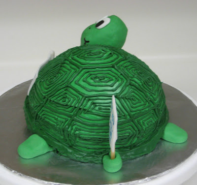 3D Turtle Cake - Side View 2