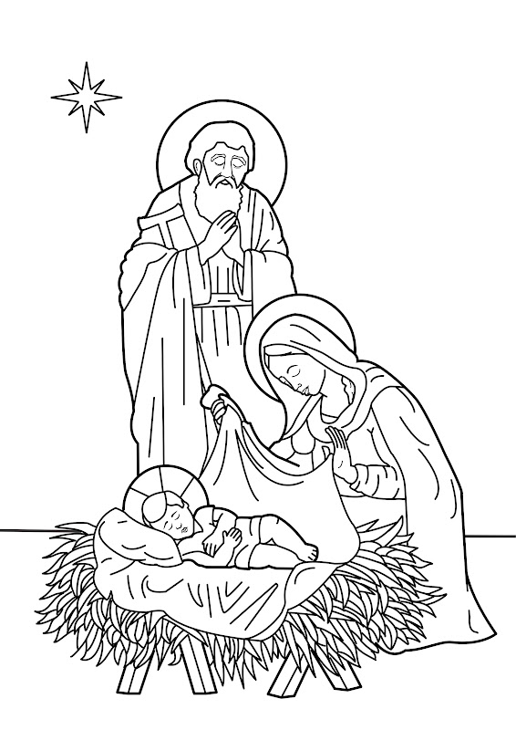The birth of christ coloring pages