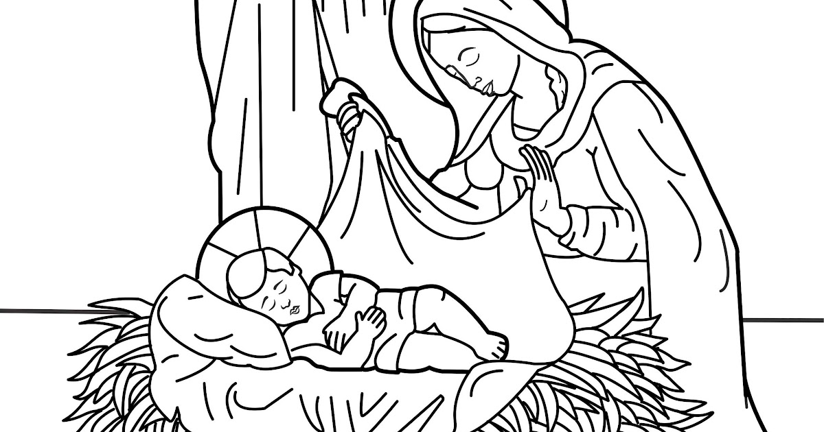 birth of jesus coloring pages - the birth of christ coloring pages coloring pages