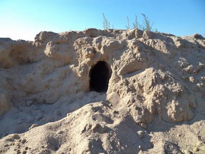 Toca no monte de areia na escola vista de sul para norte no Sábado, 8 de Outubro de 2011