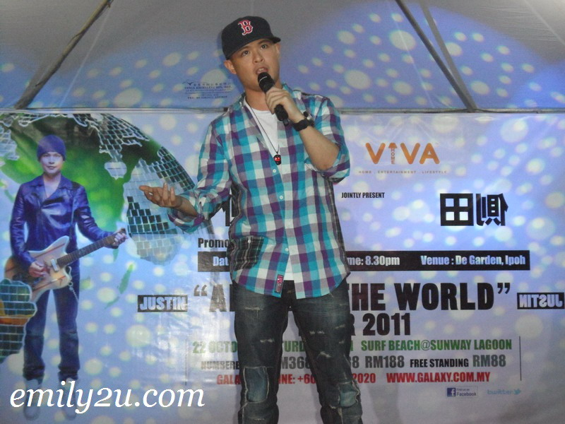 Justin Lo 側田 'Around The World' Promo Tour @ Ipoh