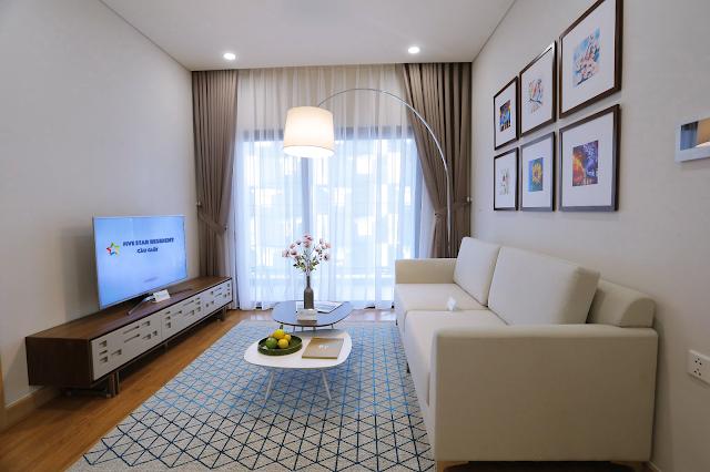 Phòng khách căn hộ chung cư Five Star Cầu Giấy