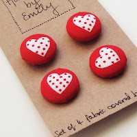 handmade by emily buttons red white loveheart fabric heart