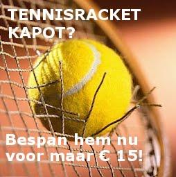Tennisracket bespannen bij ValkSports in Doorn