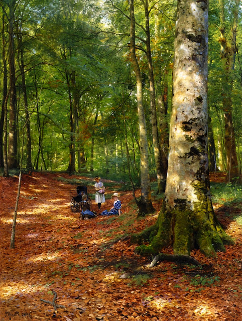 Peder Mork Monsted - The Woodland Glade(1883)