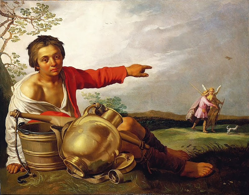 Abraham Bloemaert - Shepherd Boy Pointing at Tobias and the Angel