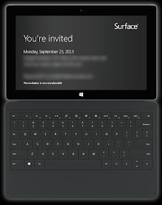 Microsoft Surface Surface 2 launch event September 23