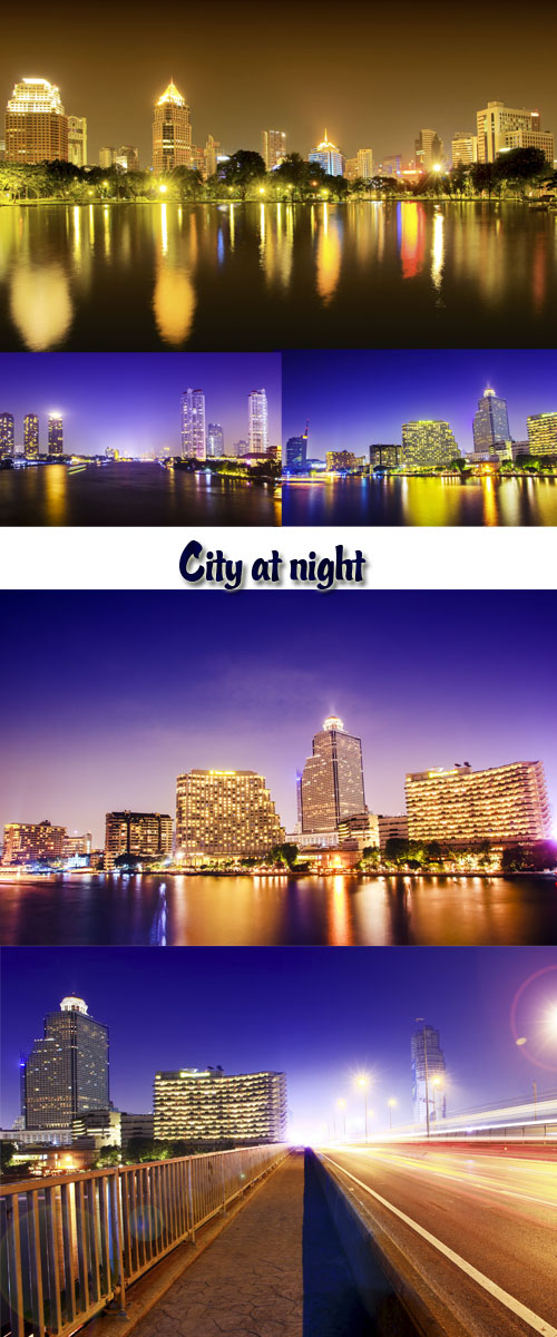 Stock Photo: City at night, megalopolis