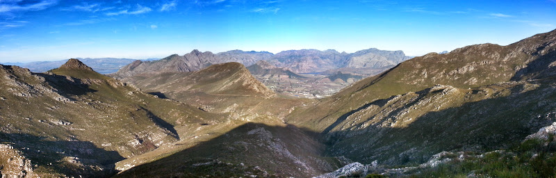 Looking west to Franschhoek Pass