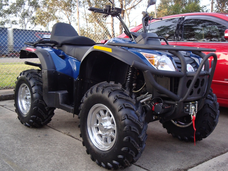 500cc 4wd Rubicon Crossfire ATV Farm 4x4 Quad Bike Blue