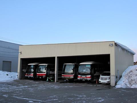 北海道中央バス「高速るもい号」直行便 1496 出発準備中