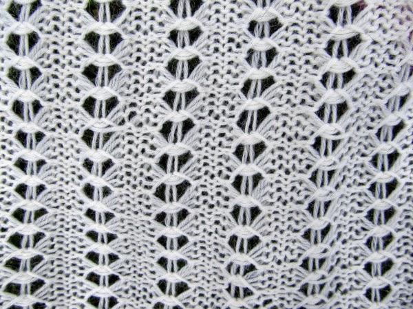 Laceschal weiss Muster