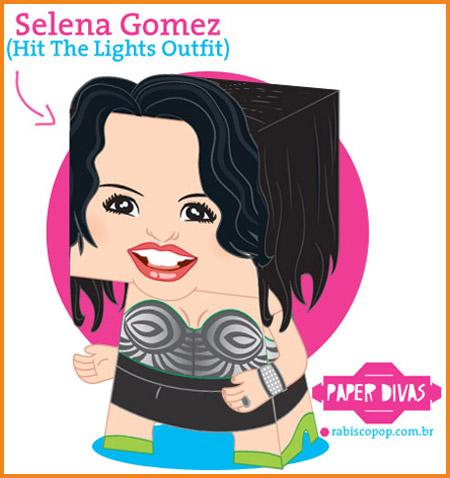 Selena Gomez Papercraft
