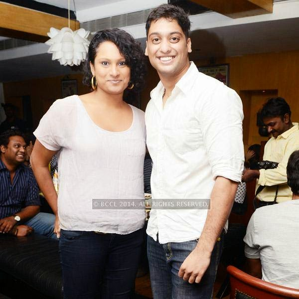 Dinisha and Vijay during a Weekend party, held at Zaras Tapas Bar.