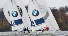 BMW J/80s sailing match race cup Berlin, Germany
