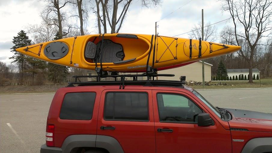 Lost Jeeps View Topic Kayaks On My Custom Kk Rack Over